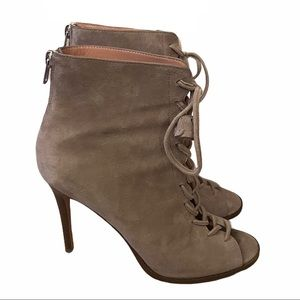 Coach Lena Lace Up Heel Taupe/Gray